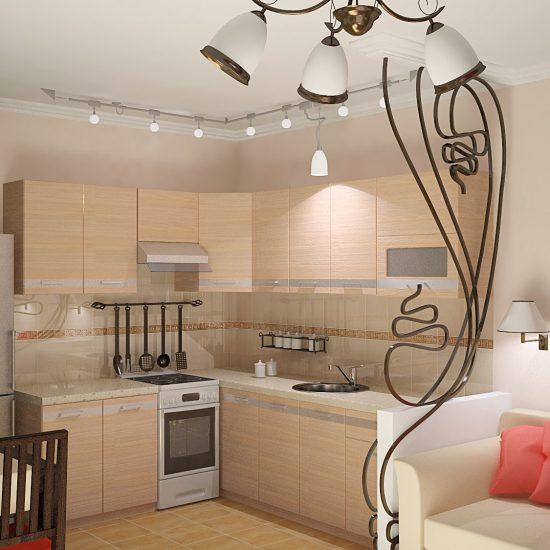 Проект дизайна кухни 12 метров совмещенной с гостиной от СК НОВЫЙ КРЫМ new.crimea.com