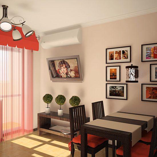 Типовой проект маленькой кухни совмещенной с гостиной Севастополь