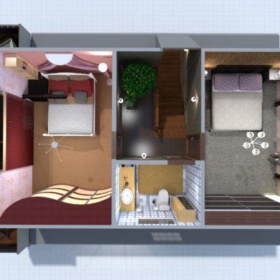 Дизайн интерьера маленькой квартиры студии от НОВЫЙ КРЫМ
